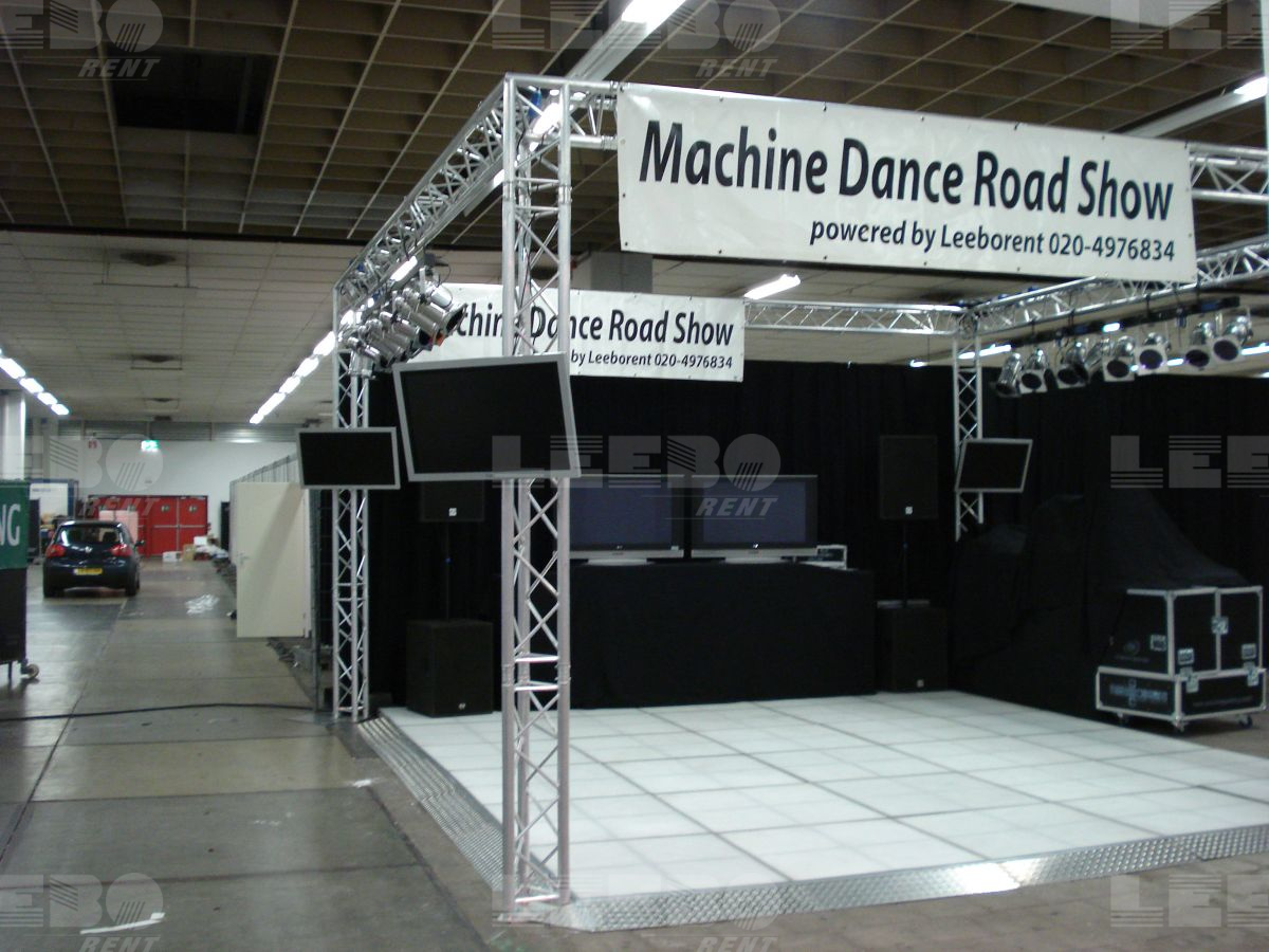 Machine dance Roadshow op Ledvloer in Jaarbeurs Utrecht event door Idance.nl